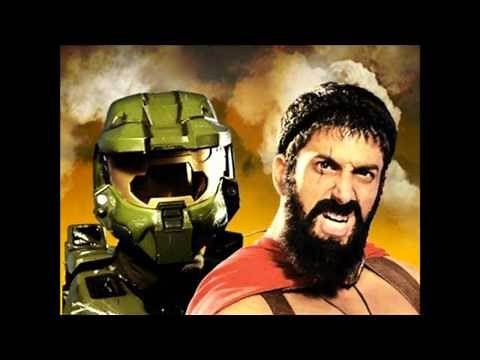 Master Chief vs Leonidas Epic Rap Battles of History #17 Lyrics[HD]