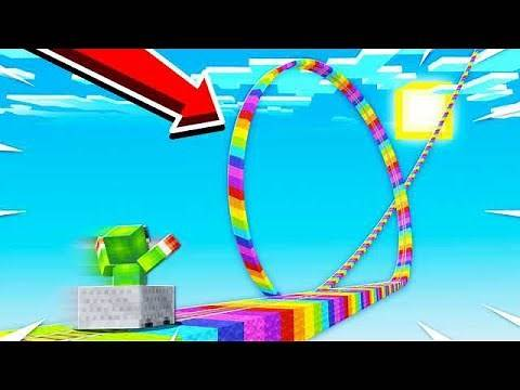 WORLD'S BIGGEST MINECRAFT ROLLERCOASTER! (45 MINUTES!)