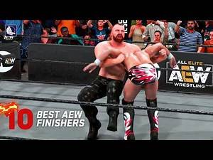 Top 10 Greatest AEW finishers! in WWE 2K