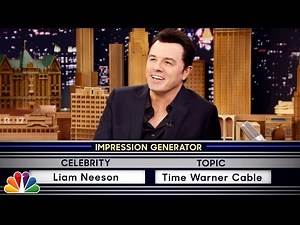 Seth MacFarlane Channels An Impeccable Liam Neeson From 'Taken' For 'Wheel Of Impressions'