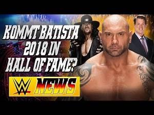 Batista in Hall of Fame 2018?, JBL verlässt SmackDown!, Undertaker kein Comeback | WWE NEWS 64/2017