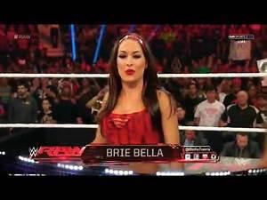 WWE RAW Brie Bella Vs Paige (Nikki Bella And Alicia Fox Attack To Paige) 2015