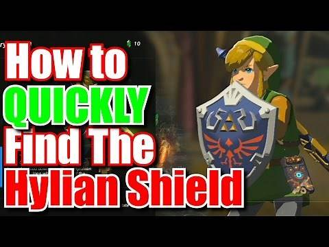 How To Quickly Get The Hylian Shield - Zelda Breath of the Wild