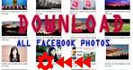how to download all photos from a facebook Page Group profile in one click