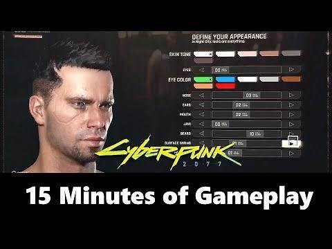 Cyberpunk 2077 Gameplay Reveal (New Character Customization Details)