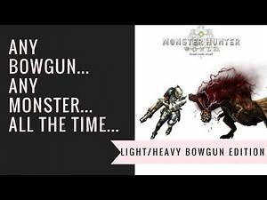 Monster Hunter World: Top Tier Light Bow Gun Build!