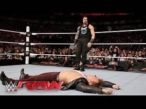 Roman Reigns is confronted by Kevin Owens, AJ Styles, Sami Zayn & Chris Jericho: Raw, Apr. 4,. 2016