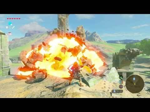 Defeating Guardians in Breath of the Wild (w/ Ancient Shield)