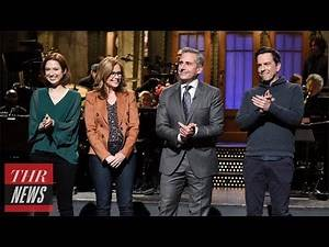 'SNL' Rewind: Steve Carell Hosts Again After 10 Years, 'The Office' Cast Urges Reboot | THR News