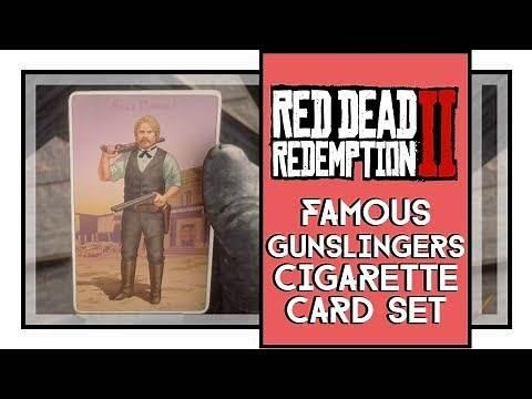 Red Dead Redemption 2 Famous Gunslingers Cigarette Card Set All Cards Locations