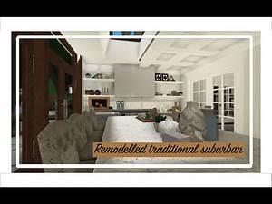 Bloxburg speedbuild: Remodelled Traditional Suburban | Speedbuild part four
