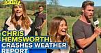 Chris Hemsworth crashes live TV weather report | Today Show Australia