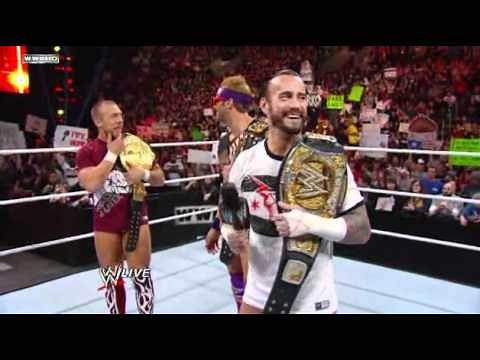 Raw - CM Punk, Bryan and Ryder celebrate their victories at WWE TLC
