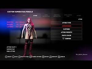 WWE 2K18 Tutorial: How to make Poison's Outfit