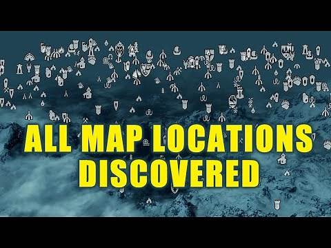 Skyrim - All Locations Discovered On Map