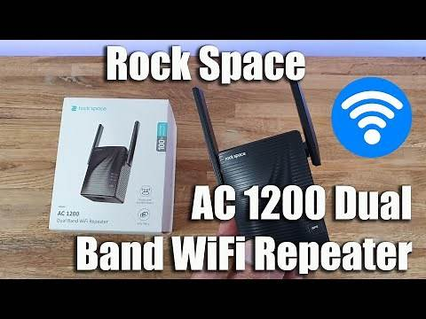 Rock Space WiFi Extender AC1200 Dual Band Wireless Repeater Unboxing and Setup