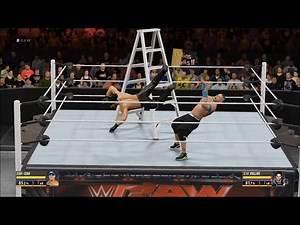 WWE 2K16 - TLC Match   John Cena vs Seth Rollins Gameplay (HD) [1080p60FPS]