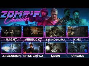 (PART 2) PLAYING ALL 8 MAPS IN ZOMBIES CHRONICLES - CALL OF DUTY BLACK OPS 1 & 2