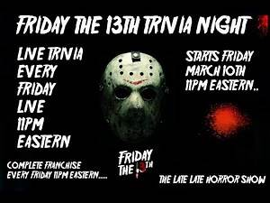 Friday The 13th 1980 Trivia Night Live Stream WEEK ONE