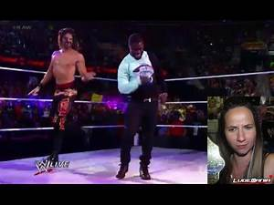 WWE Raw 6/16/14 Adam Rose Summer Rae vs Fandango Layla with Kevin Hart