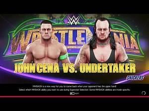 WWE 2K19   JOHN CENA VS. UNDERTAKER   WRESTLEMANIA 34   XBOX ONE S