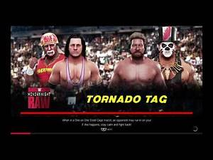 WWE 2K19 Bret Hart,Hulk Hogan VS Ted Dibiase,Papa Shango Tornado Tag Elimination Match