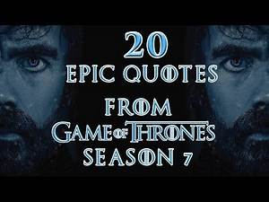 Game of Thrones : The 20 Best Quotes of Season 7 (HBO)