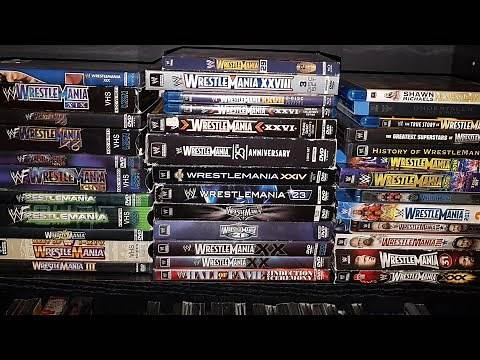 WWE WrestleMania 1-34 VHS, DVD & Blu Ray Collection