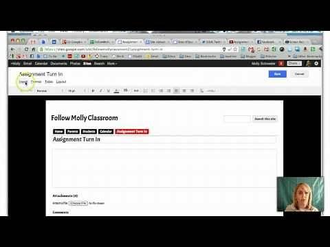 Assignment Turn in Script in Google Sites