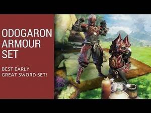 Monster Hunter Worlds Odogaron Amour Set Greatsword Build