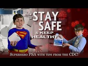 Don't Hoard TOILET PAPER & Don't Drink BLEACH! Superman gives REAL safety tips from the CDC!