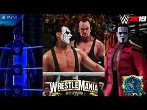 UNDERTAKER VS STING| 5 STAR MATCH| WRESTLEMANIA 37| WWE 2K19