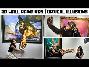 3D WALL PAINTINGS   OPTICAL ILLUSIONS