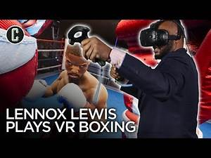 Heavyweight Champion Lennox Lewis Plays Creed VR Boxing Game