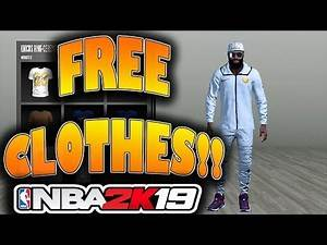NBA 2K19 - How To Get Free Clothes!!!!!!!