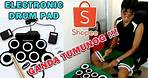 Electronic Drum pad from shopee   Digital Drum   Unboxing, Review and Testing