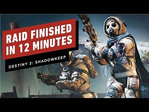Destiny 2 Shadowkeep Garden of Salvation Raid Finished in 12 Minutes