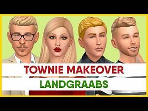 THE LANDGRAABS & JOHNNY ZEST ~ Townie Makeover | The Sims 4: Create A Sim CC Links