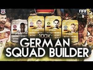 FIFA 15 FUT   100K BEAST GERMAN / BUNDESLIGA SQUAD BUILDER ft Muller Schurrle Gundogan & Mlapa