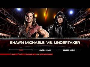 WWE 2K14 PS3 Gameplay - Shawn Michaels VS Undertaker [2K][mClassic]