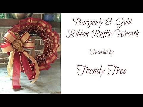 Ruffled Ribbon Wreath Tutorial