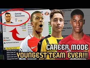 CAN THE YOUNGEST TEAM in Career Mode be able to win a PREMIER LEAGUE??? - FIFA 17