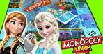 FROZEN Monopoly Junior FAMILY GAME NIGHT! Kids Board Game Unboxing & Toy Review Disney Frozen