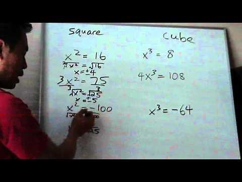 Solving Square Root / Cube Root Equations Pre-Algebra / Algebra 1