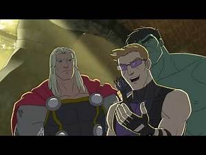 The Avengers Protocol - Ironman, Captain America, Thor, Hawkeye Cartoon Best Scene for Kids HD