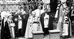 Princess Margaret and Anthony Armstrong-Jones get married in Westminster Abbey in...HD Stock Footage