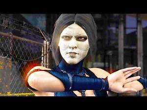 Mortal Kombat XL - Michael Myers Kitana Costume Skin Mod Performs Intros On All Stages 4K Mods
