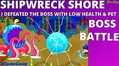 Prodigy Math Game:SHIPRWRECK SHORE BOSS BATTLE: I defeated the Boss with My LOW Health & Pet level: