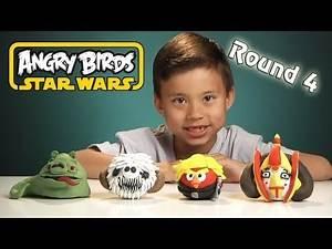 NEW Angry Birds STAR WARS Clay Models (Round 4) - Jabba the Hutt Pig, Wampa Pig, Queen Amidala Bird