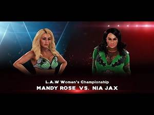 Mandy Rose vs. Nia Jax for the LAW Women's Championship
